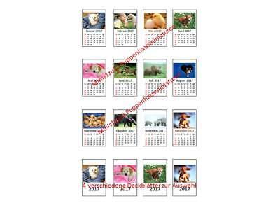 Montiert Tier (2219# Miniatur Kalender 2020 fertig montiert - Tierbabies - Puppenhaus- M1zu12)