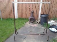 market / carboot 4 piece metal clothes rail