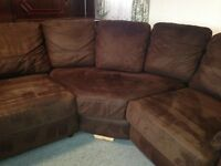 Corner suite & pouffe for sale