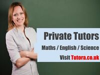 Struggling to find a Private Tutor? We can help! Maths/English/Science/Physics/Biology/Chemistry