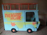 Scooby Doo Mystery Machine bed high sleeper- used