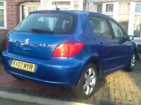 PEUGEOT AUTOMATIC 5 DOOR + FULL HPI CLEAR REPORT + FULL SERVICE HISTORY + PRIVIOUS LADY OWNER
