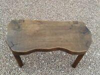Original oak pig antique bench