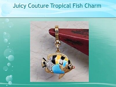~HTF~ 2009 JUICY COUTURE Colorful Enamel & Crystal Tropical Fish Charm YJRU3461