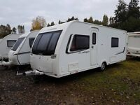 Lunar Clubman SB 4 Caravan 2013 FIXED SINGLE BEDS, MOTOR MOVER, AWNING !!