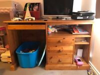 Great pine desk, in good used condition, may have he odd mark, but nothing major.