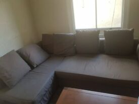 Double Sofa bed Brown.