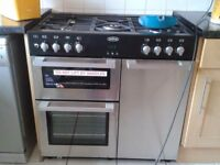 Belling Dual Fuel Range. 2 ovens, 1 grill and 5 rings.