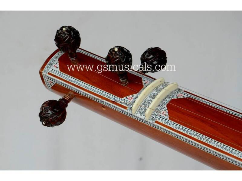 TANPURA ACCESSORIES MAIN  LOTUS PEGS CARVED SET GSMA033 C