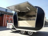 Mobile Catering Trailer Burger Van Pizza Trailer Hot Dog Ice Cream Cart 2800x1650x2450
