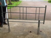Headboard to fit double bed , grey metal