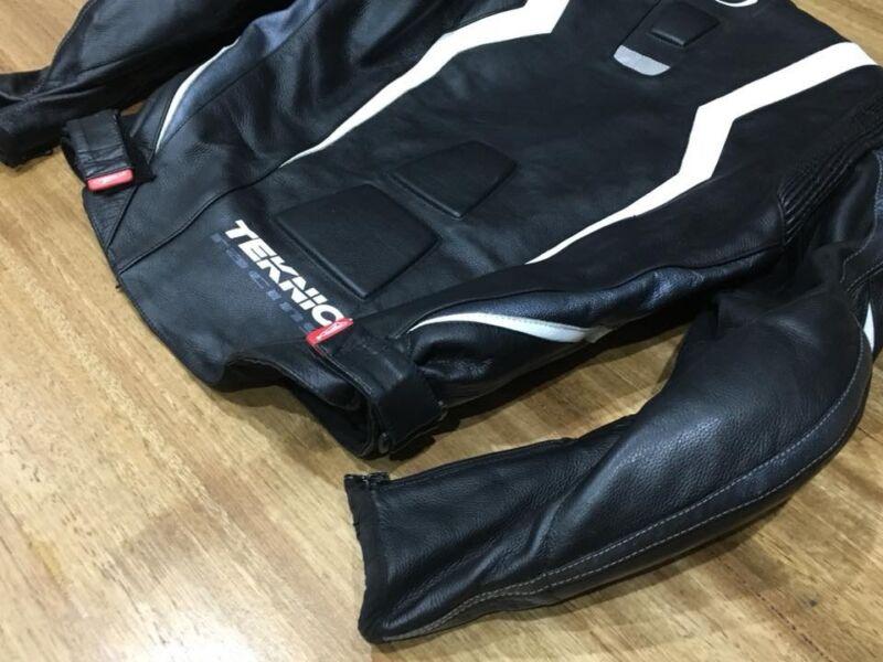 Teknic Tasc Motorbike Leather Jacket (Size 40US