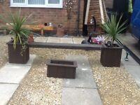 Garden bench/ planter