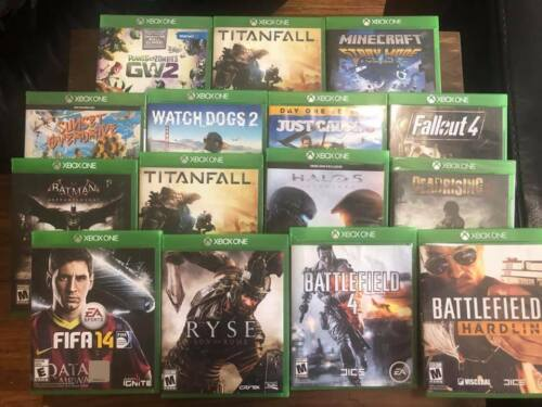 Xbox ONE lot of 15 games mix of sealed/used Minecraft Batman Halo