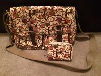 Owl satchel and purse set