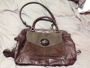 Rare Authentic Coach Croc Embossed Sadie Satchel Handbag