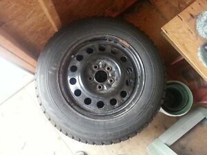 205/65/15 Bridgestone Blizzak on rims