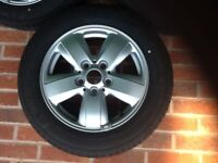 15 inch 5 Stud Alloys with Michelin tyres