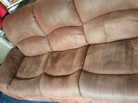 Three Seater Fabric Couch (Brown)