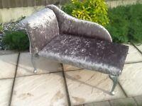 Upcycled Crushed Velvet Mini Chaise Longue (children / dog / cat)