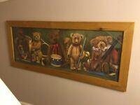 Very large long collectible teddy bear picture