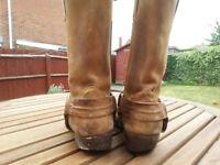 Biker boots size 9 UK/ EU43