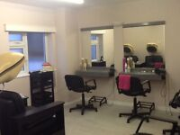 Salon furniture. Four Italian Dressing out positions complete with mirrors
