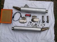 Pair of motorcycle silencers