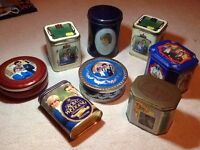 Collection of 7 Charles & Diana Royal Wedding tins & 1 investiture tin