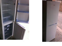 Amica fridge freezer 61 inches high x 19.5 inches wide Good working order SEE BELOW
