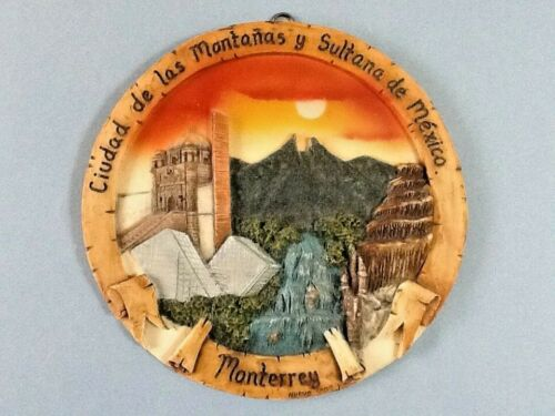 """Decorative Resin Wall Hanging from Monterrey, Mexico  8 1/4"""" Diameter"""