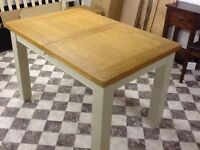 4 FT SOLID OAK PAINTED EXTENDING TABLE