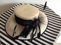 Beautiful cream and black hat