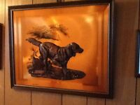 Copper picture of dog