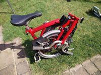 Brompton M6L 6 speed folding bike