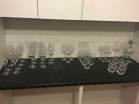 42 glasses, brand new!