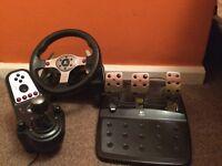 Logitech G25 Steering/Racing Wheel Pedals & Shifter
