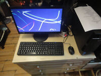 GOOD WORKING CONDITION, A NICE LENOVO COMPUTER WITH KEYBOARD, MOUSE AND MONITOR