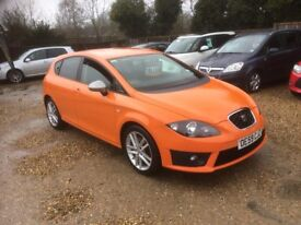 2010 SEAT LEON FR 2.0 TDI 170BHP 1 OWNER FROM NEW 79,000 MILES
