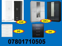WARDROBE WARDROBES TALLBOY CHESTS BRAND NEW FAST DELIVERY 54372
