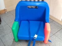 Portable/Travel dining chair booster seat with straps to secure seat to chairs-folds compact-£10