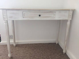 Distressed white dressing table