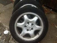 Mercedes. Alloy wheels with all good tyres.