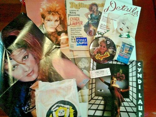Cyndi Lauper Lot: Tour Program, Hawaii Concert Ticket, Details Magazine & more