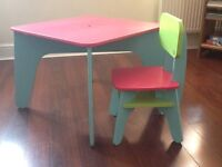 ELC childs table
