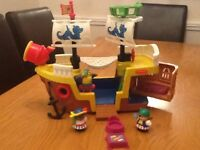 Fisher price pirate ship and Noah ark