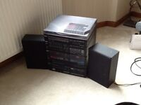 Hi-fi with cd, radio, tape and record player