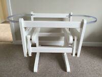 Brand new Mothercare white moses basket stand