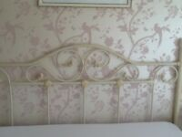 Cream Wrought Iron Head Board