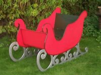 Large Wooden Christmas Santa Sleigh To Sit In Xmas Event Garden Entertainment Prop Shop Wedding Home